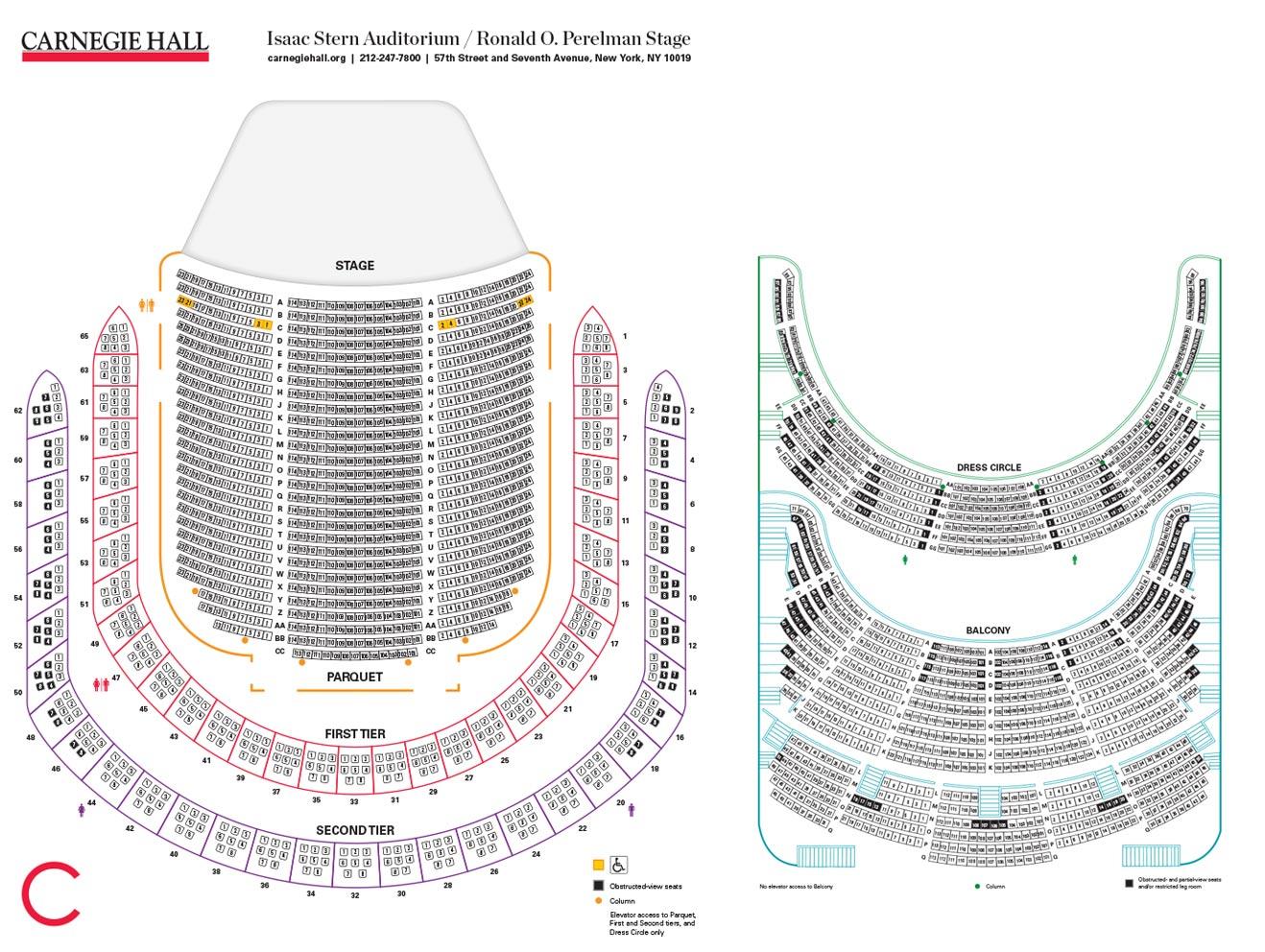 Zankel Hall Seating Carnegie Hall Seating Chart Zankel
