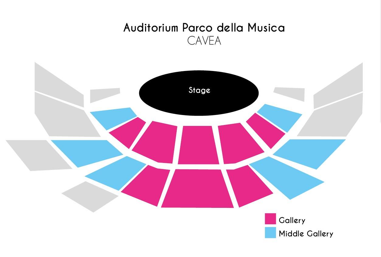 Auditorium parco della musica rome upcoming classical for Auditorium parco della musica sala santa cecilia posti migliori